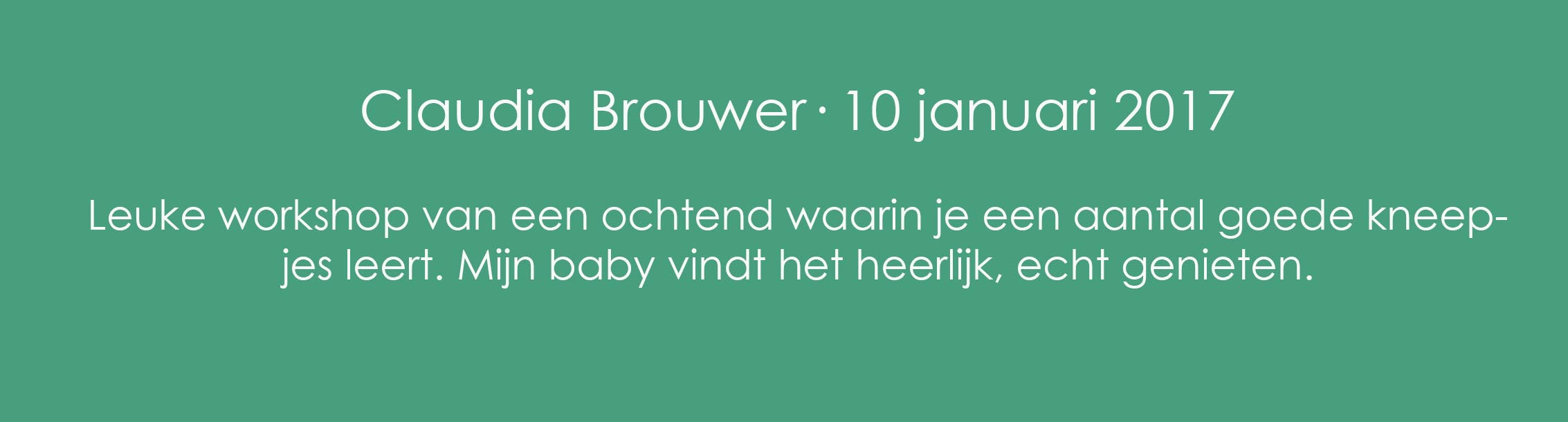 Review Babymassage Claudia Brouwer