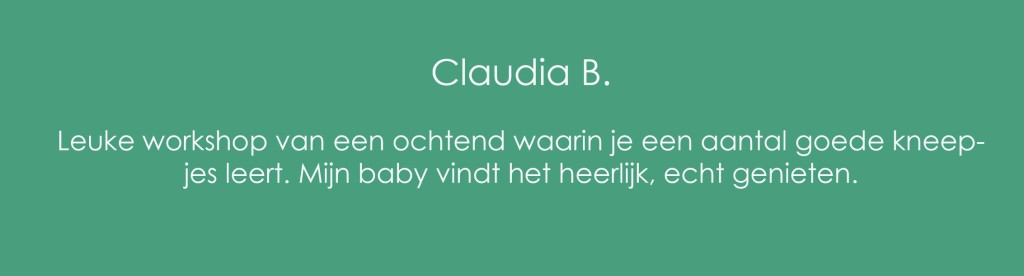 Review Babymassage Claudia B