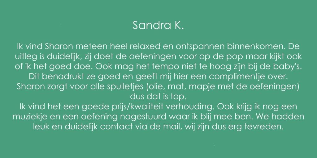 Review Babymassage Sandra K