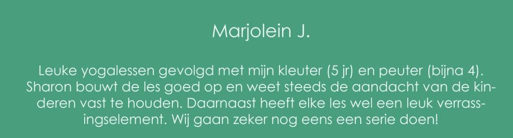 Review peuteryoga Marjolein J