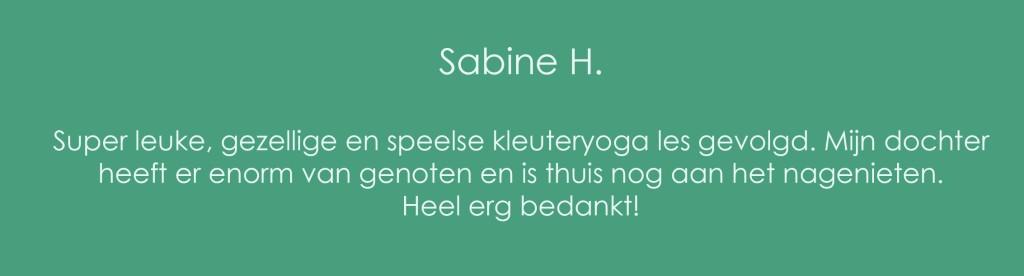 Review peuteryoga Sabine H