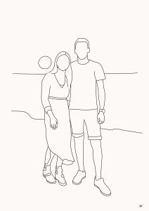 Lijntekening portrettekening